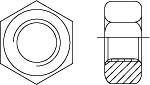 Гайка ГОСТ Р 52645-2006 (ISO 4775) высокопрочная шестигранная с увеличенным размером под ключ