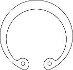 Кольца пружинные упорные плоские внутренние эксцентрические ГОСТ 13943-86