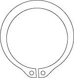 Кольца пружинные упорные плоские наружные эксцентрические ГОСТ 13942-86