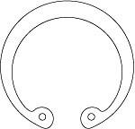 DIN 472 Кольцо стопорное внутреннее (для отверстий)