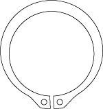 DIN 471 Кольцо стопорное эксцентрическое
