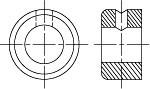 DIN 705 Кольцо установочное (стопорное), форма A, B