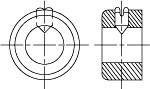 DIN 703 Кольцо установочное (стопорное) тяжелого исполнения
