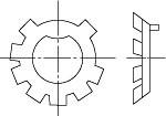 DIN 5406 MB Шайба стопорная многолапчатая