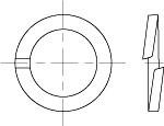 Шайба пружинная (гровер) DIN 7980