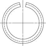 DIN 7993 Кольцо стопорное концентрическое