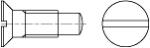 DIN 925 Винт с потайной головкой, шлицем и цапфой