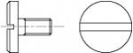 DIN 921 Винт с плоской увеличенной головкой и шлицем