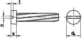DIN 7513 винт резьбонарезающий Форма B