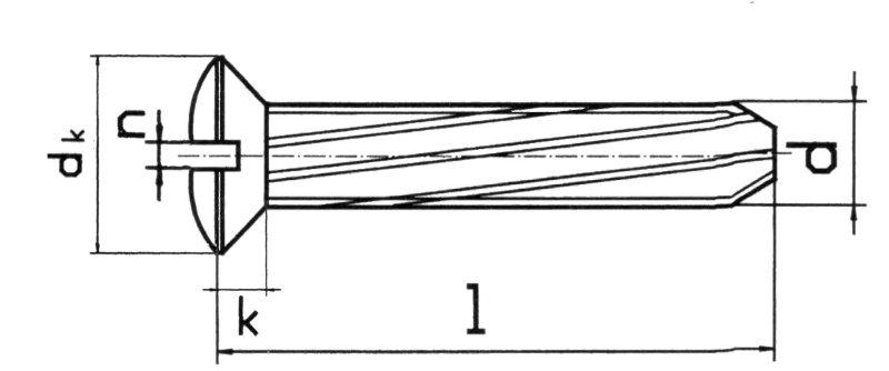 DIN 7513 винт резьбонарезающий Форма F