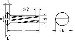 DIN 7513 винт резьбонарезающий Форма G