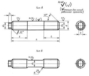 Шпильки для фланцевых соединений ГОСТ 10494-80
